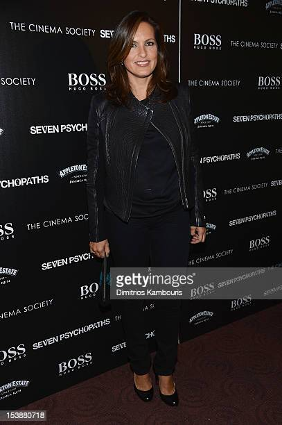 Actress Mariska Hargitay attends The Cinema Society with Hugo Boss and Appleton Estate screening of 'Seven Psychopaths' at Clearview Chelsea Cinemas...