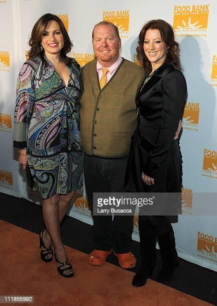 Actress Mariska Hargitay chef Mario Batali and singer Sarah Mclaughlin attend Food Bank For New York City's Annual CanDo Awards Gala at Pier Sixty at...