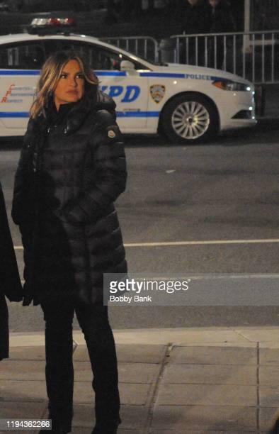 Actress Mariska Hargitay on set of Law Order Special Victims Unit on January 17 2020 in New York City