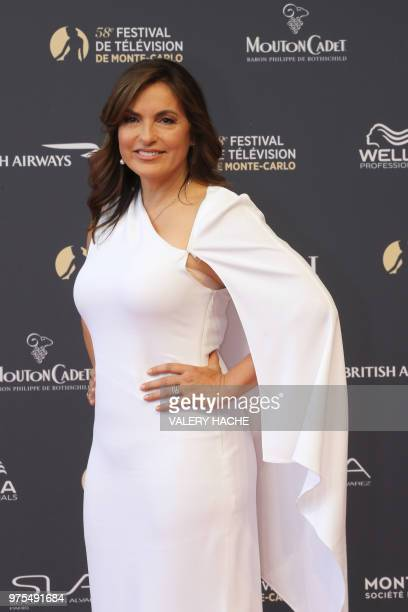 US actress Mariska Hargitay poses as she arrives for the opening of the 58th MonteCarlo Television Festival on June 15 2018 in Monaco