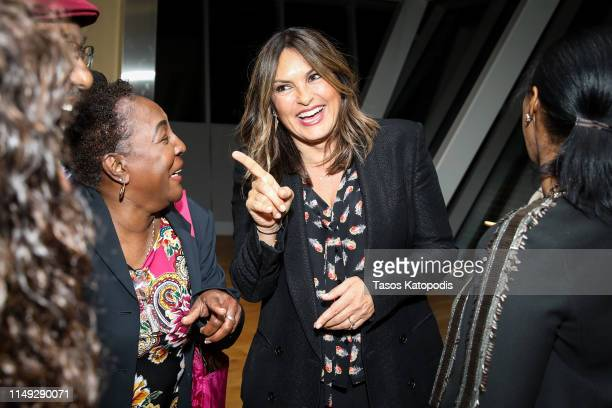 Actress Mariska Hargitay with the Simmons family after a screening of the film 'EMANUEL' at the Museum of the Bible on May 14 2019 in Washington DC