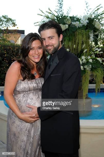 Actress Marisol Nichols and director Taron Lexton pose during the 39th annual Church of Scientology anniversary gala held at The Church of...