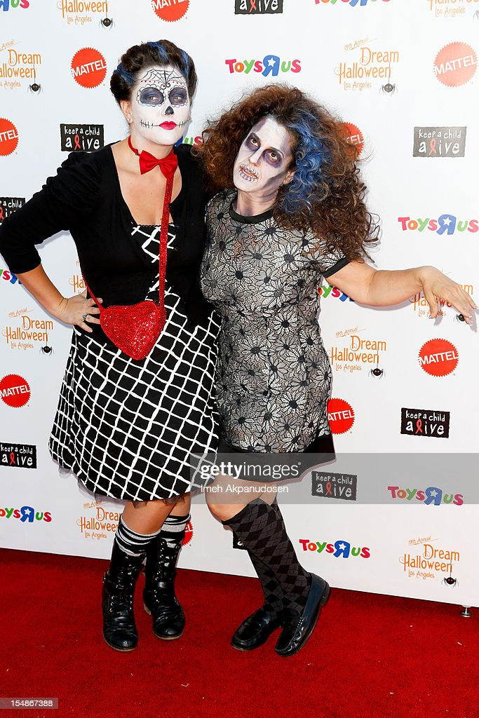 Actress Marissa Jaret Winokur (R) and her niece Emily Winokur attend the 2012 'Dream Halloween' presented by Keep A Child Alive at Barker Hangar on October 27, 2012 in Santa Monica, California.