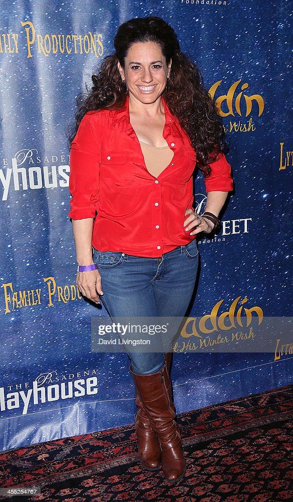 Actress Marissa Jaret Winokur attends 'Aladdin and His Winter Wish' opening night at the Pasadena Playhouse on December 11, 2013 in Pasadena, California.