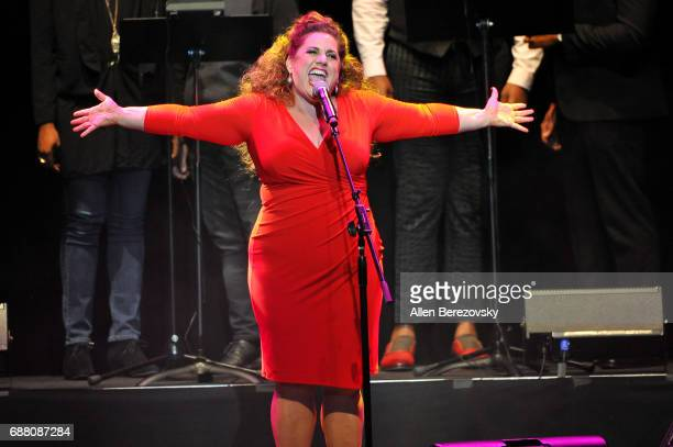 Actress Marissa Jaret Winokur performs onstage during the Concert for America Stand Up Sing Out at Royce Hall on May 24 2017 in Los Angeles California