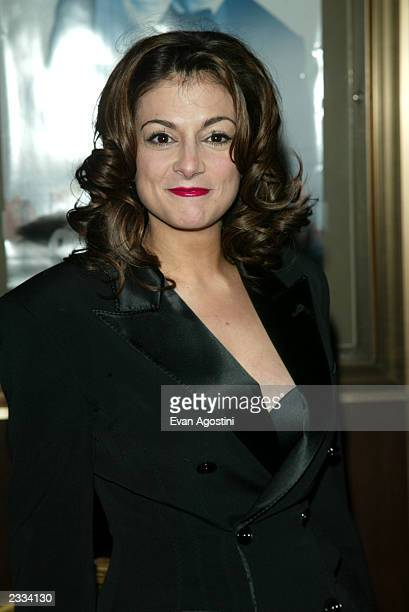Actress Marissa Matrone arriving at the Maid In Manhattan world premiere at The Ziegfeld Theatre New York City December 8 2002 Photo by Evan...