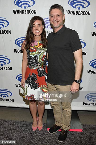 Actress Marissa Neitling and writer/executive producer Steven Kane attend 'The Last Ship' panel TNT at Wondercon 2016 at Los Angeles Convention...