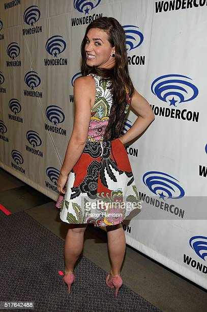 Actress Marissa Neitling attends 'The Last Ship' panel TNT at Wondercon 2016 at Los Angeles Convention Center on March 26 2016 in Los Angeles...