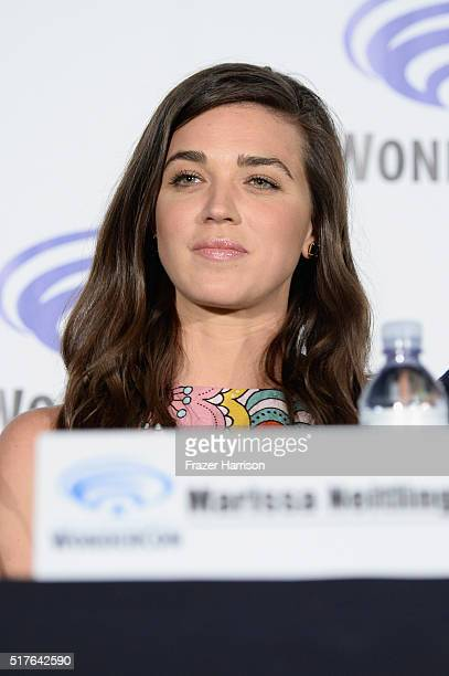 Actress Marissa Neitling speaks on 'The Last Ship' panel TNT at Wondercon 2016 at Los Angeles Convention Center on March 26 2016 in Los Angeles...
