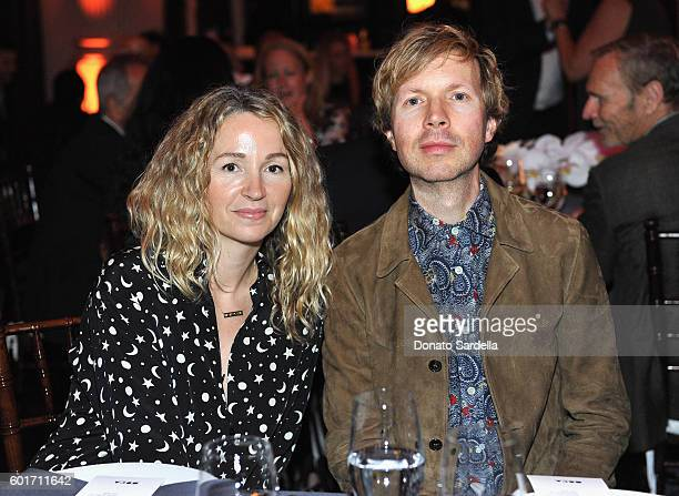 Actress Marissa Ribisi and musician Beck attend MOCA's Leadership Circle And Members' Opening For Doug Aitken Electric Earth at The Geffen...