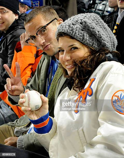 Actress Marissa Tomei attends the Opening Day game between the San Diego Padres and the New York Mets at Citi Field on April 13 2009 in the Flushing...