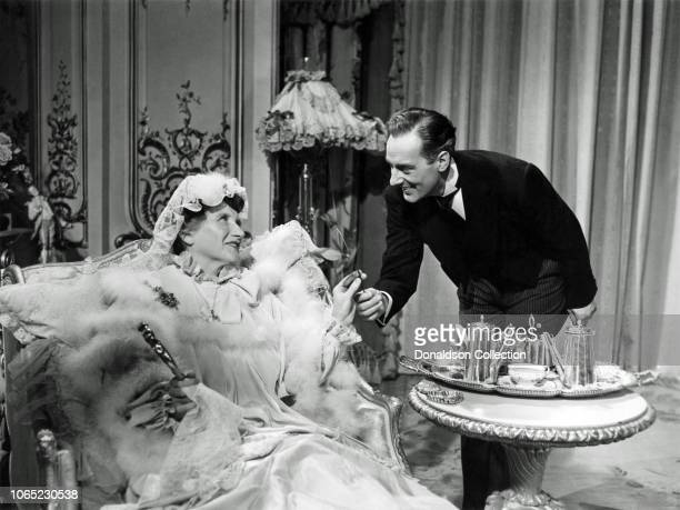 Actress Marjorie Main and Michael Willding in a scene from the movie The Law and the Lady