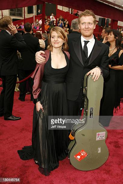Actress Marketa Irglova and Actor Glen Hansard attends the 80th Annual Academy Awards at the Kodak Theatre on February 24 2008 in Los Angeles...