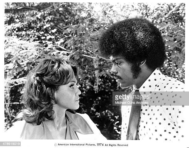 Actress Marki Bey and actor Charles Robinson in a scene from the movie Sugar Hill circa 1974