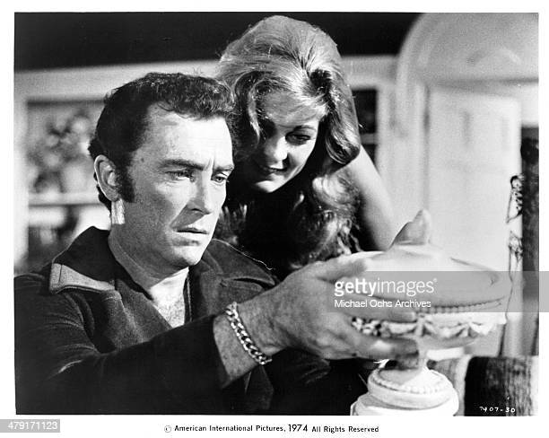 Actress Marki Bey and actor Robert Quarry in a scene from the movie Sugar Hill circa 1974