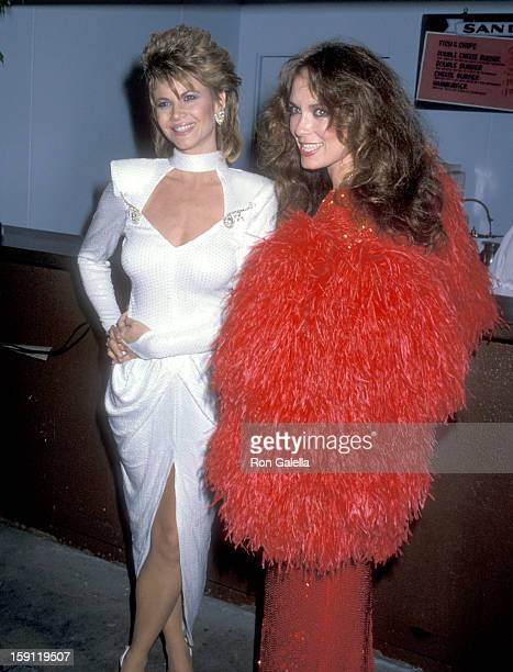 Actress Markie Post and actress Catherine Bach attend the 21st Annual Academy of Country Music Awards on April 14 1986 at Knott's Berry Farm in Buena...