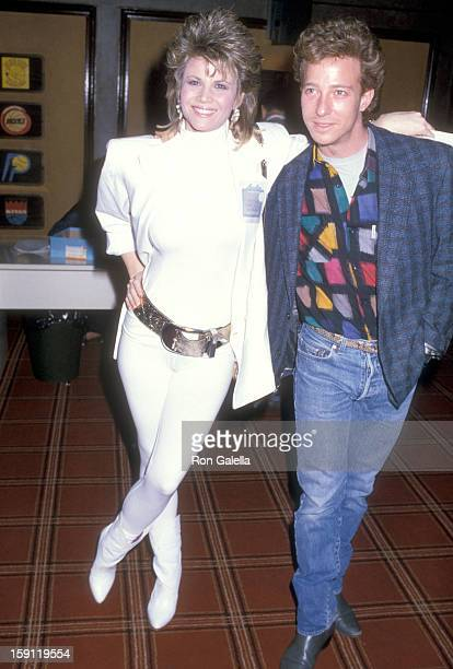 Actress Markie Post and husband writer Michael A Ross attend the Welcome Home Vets Concert Honoring the American Vietnam Veterans on February 24 1986...