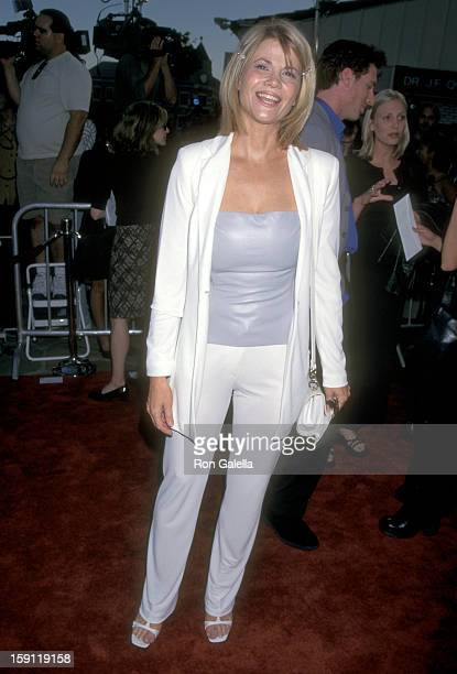 Actress Markie Post attends 'There's Something About Mary' Westwood Premiere on July 9 1998 at Mann Village Theatre in Westwood California