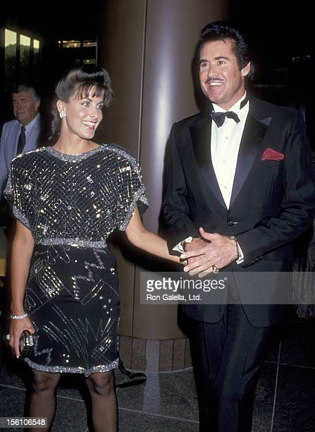 Actress Marla Heasley and Entertainer Wayne Newton attend the 'Licence to Kill' West Hollywood Premiere on July 10, 1989 at DGA Theatre in West...