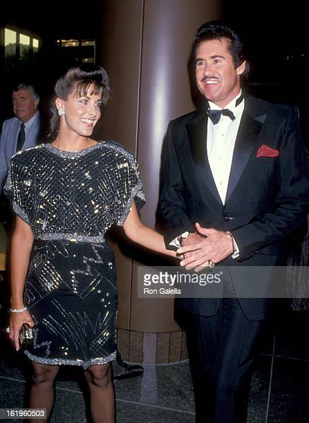 Actress Marla Heasley and Entertainer Wayne Newton attend the Licence to Kill West Hollywood Premiere on July 10 1989 at DGA Theatre in West...