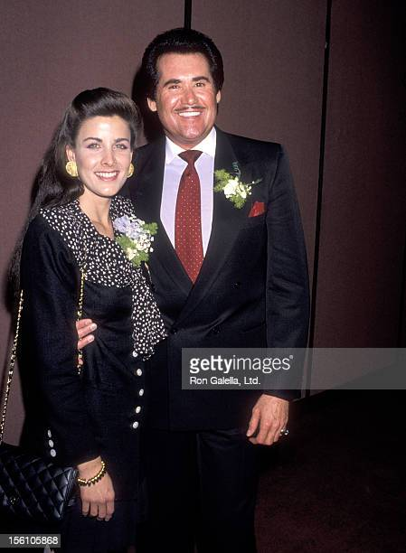 Actress Marla Heasley and Entertainer Wayne Newton attend the West Coast Father's Day Council's Fathers of the Year Awards Luncheon on June 6, 1989...