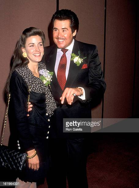 Actress Marla Heasley and Entertainer Wayne Newton attend the West Coast Father's Day Council's Fathers of the Year Awards Luncheon on June 6 1989 at...