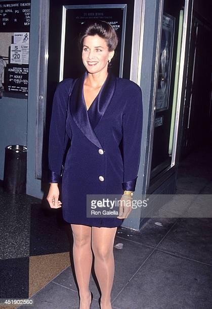 Actress Marla Heasley attends The Last Paesan Santa Monica Premiere on February 28 1993 at the NuWilshire Theatre in Santa Monica California