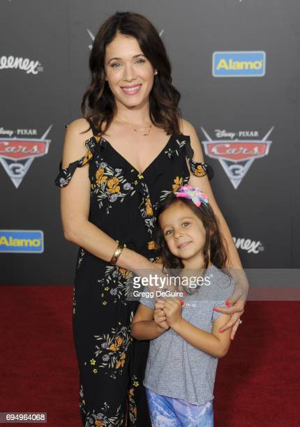 Actress Marla Sokoloff and daughter Elliotte Anne Puro arrive at the premiere of Disney And Pixar's 'Cars 3' at Anaheim Convention Center on June 10...
