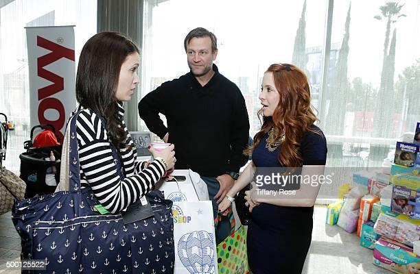 Actress Marla Sokoloff Kacy Lockwood and actress Amy Davidson attend 2015 Santa's Secret Workshop Benefiting LA Family Housing at Andaz Hotel on...