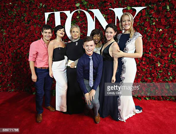 Actress Marlee Matlin and cast members from Spring Awakening attend the 70th Annual Tony Awards at The Beacon Theatre on June 12 2016 in New York City