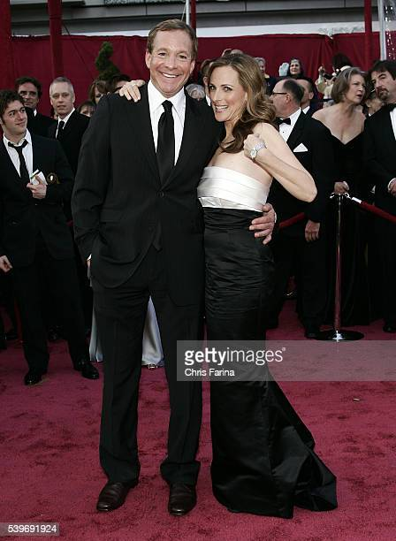 Actress Marlee Matlin and husband Kevin Grandalski arrive at the 80th Academy Awards® held at the Kodak Theatre in Los Angeles She wears a gown by...