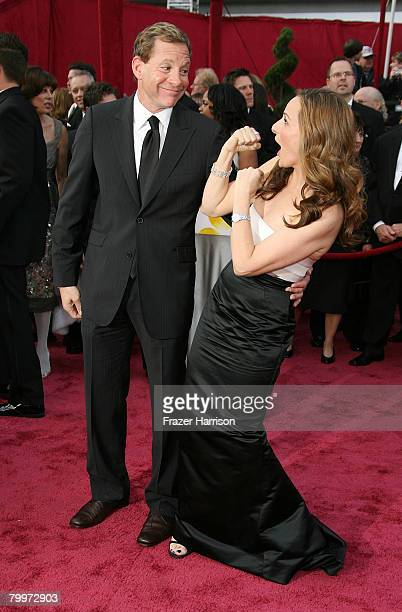 Actress Marlee Matlin and husband Kevin Grandalski arrive at the 80th Annual Academy Awards held at the Kodak Theatre on February 24 2008 in...