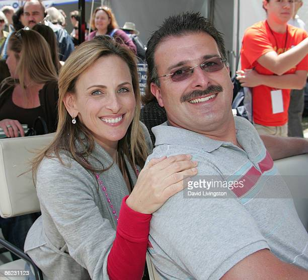 Actress Marlee Matlin and husband Kevin Grandalski attend the 14th annual Los Angeles Times Festival of Books Day 2 at UCLA on April 26 2009 in Los...
