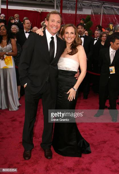 Actress Marlee Matlin and husband Kevin Grandalski attend the 80th Annual Academy Awards at the Kodak Theatre on February 24 2008 in Los Angeles...