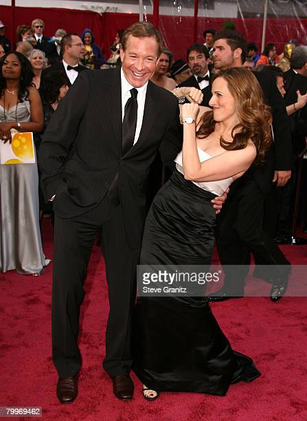 Actress Marlee Matlin and husband Kevin Grandalski attends the 80th Annual Academy Awards at the Kodak Theatre on February 24 2008 in Los Angeles...
