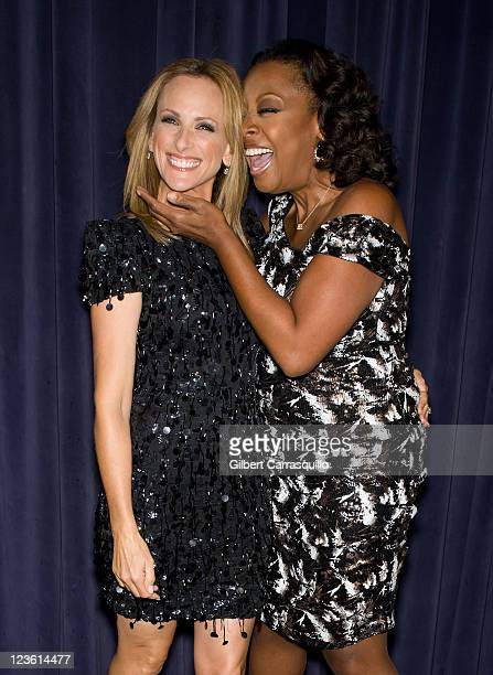 Actress Marlee Matlin and media personality Star Jones attend An Evening with The Celebrity Apprentice at Florence Gould Hall on April 26 2011 in New...