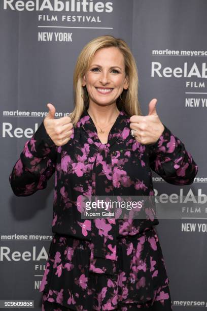 Actress Marlee Matlin attends the 10th annual ReelAbilities Film Festival opening night at JCC Manhattan on March 8 2018 in New York City