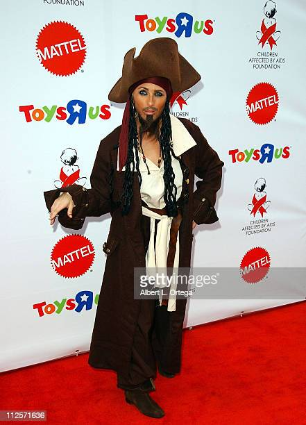 Actress Marlee Matlin dressed as Captain Jack Sparrow arrives at the 2007 Dream Halloween Under The Big Top hosted by Jamie Lee Curtis to benefit the...