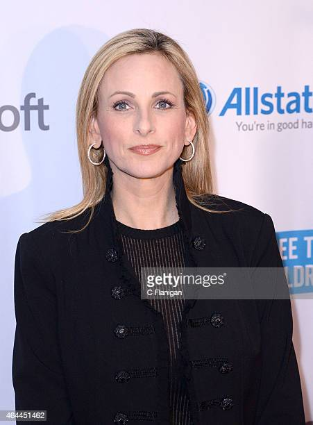 Actress Marlee Matlin poses backstage during 'We Day California' at SAP Center on February 25 2015 in San Jose California
