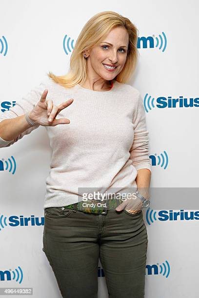 Actress Marlee Matlin visits the SiriusXM Studios on November 9 2015 in New York City