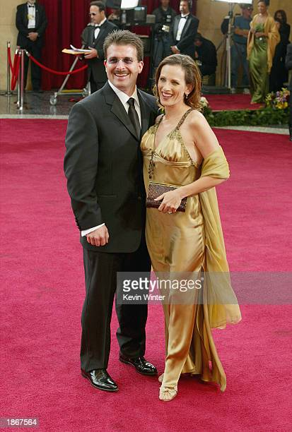 Actress Marlee Matlin wearing Harry Winston jewelry and husband Kevin Grandalski attend the 75th Annual Academy Awards at the Kodak Theater on March...