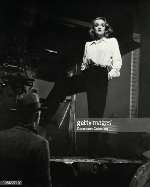 """Actress Marlene Dietrich in a scene from the movie """"Seven Sinners"""""""
