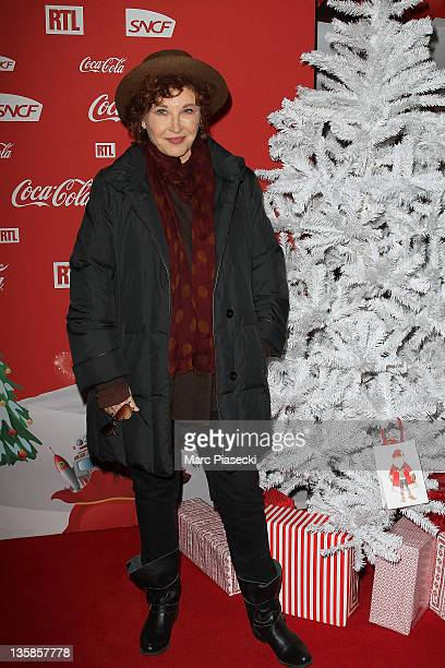 Actress Marlene Jobert attends the 'Association Petits Princes' And Coca Cola Red Train Launch at Gare de L'Est on December 15 2011 in Paris France
