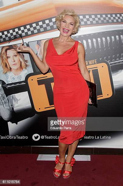 Actress Marlene Mourreau attends the 'Taxi' photocall at La Latina theatre on September 28 2016 in Madrid Spain
