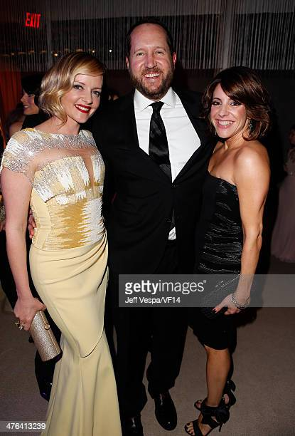 Actress Marley Shelton producer Beau Flynn and talent agent Adriana Alberghetti attend the 2014 Vanity Fair Oscar Party Hosted By Graydon Carter on...