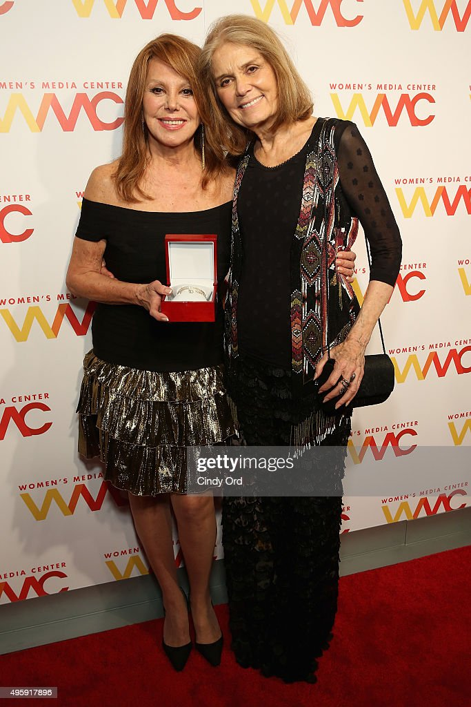 Actress Marlo Thomas and co-founder of The Women's Media Center, Gloria Steinem attend The Women's Media Center 2015 Women's Media Awards on November 5, 2015 in New York City.