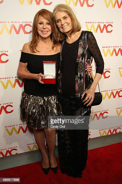 Actress Marlo Thomas and cofounder of The Women's Media Center Gloria Steinem attend The Women's Media Center 2015 Women's Media Awards on November 5...