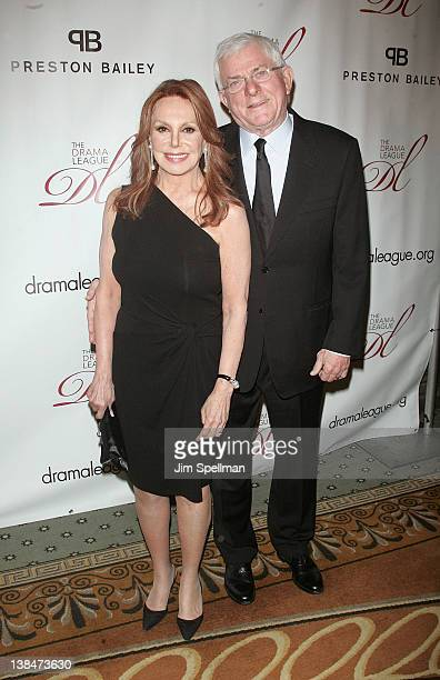 Actress Marlo Thomas and Phil Donahue attend the 2012 Drama League Of New York Musical Celebration Of Broadway Benefit at The Pierre Hotel on...