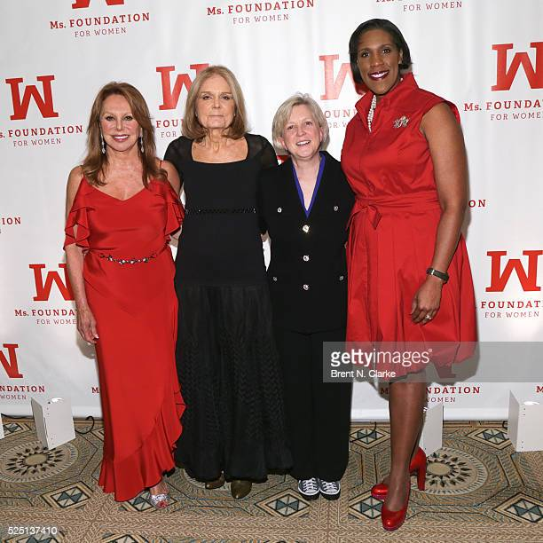 Actress Marlo Thomas feminist/political activist Gloria Steinem cofounder of First Book and Peggy Charren Free to Be You and Me Award recipient Kyle...