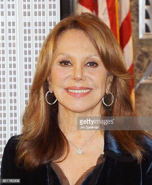Actress Marlo Thomas Lights The Empire State Building green in honor of St Jude Children's Research Hospital's 2015 Thanks and Giving campaign at The...